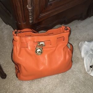 Michael Kors orange handbag, NWOT